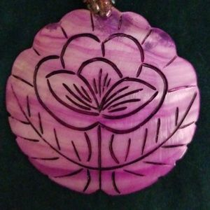 Jewelry - MAGENTA SHELL NECKLACE.  NWOT